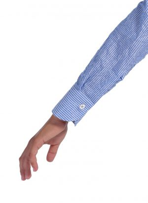 Shirt with Line    Sky-blue and soft nec