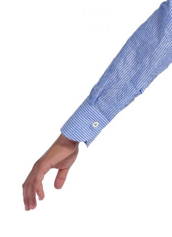 Camicia Riga Collo Morbido Azzurra