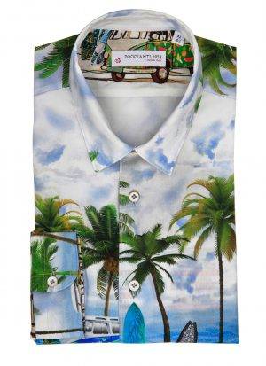 fantasy Shirt. Soft Collar. Landscape design