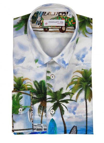 fantasy Shirt. Soft Collar. Landscape design