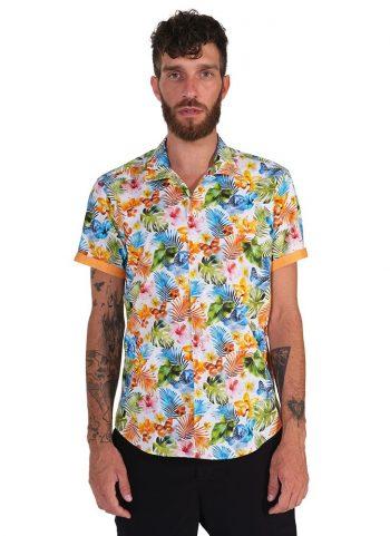 Camicia Fantasia Collo Morbido Multicolore