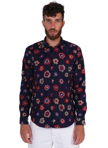 fantasy Shirt. Soft Collar. Blue