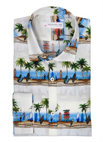 Camicia Fantasia Collo Morbido Paesaggio