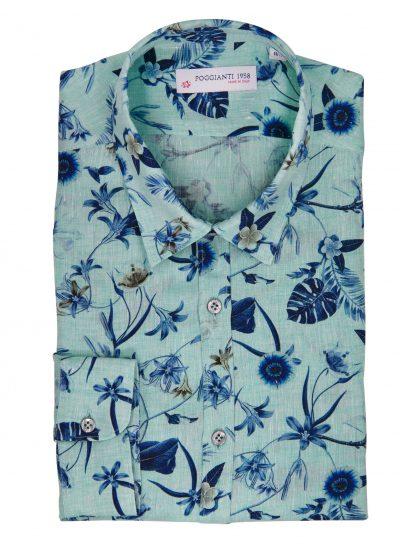 fantasy Shirt. Soft Collar. Green
