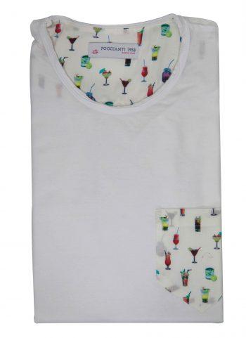 T-shirt cotone 820-01 White