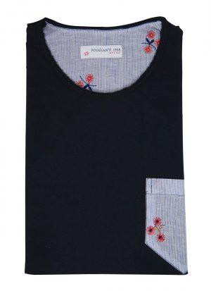 T-shirt cotone 924-02 Blu