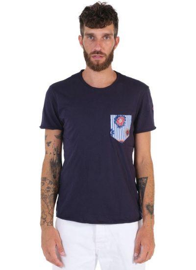 T-shirt cotone 957-02 Blu