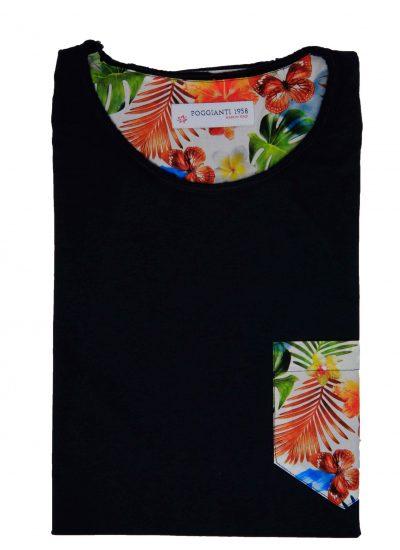 T-shirt cotone 853-01 Blu