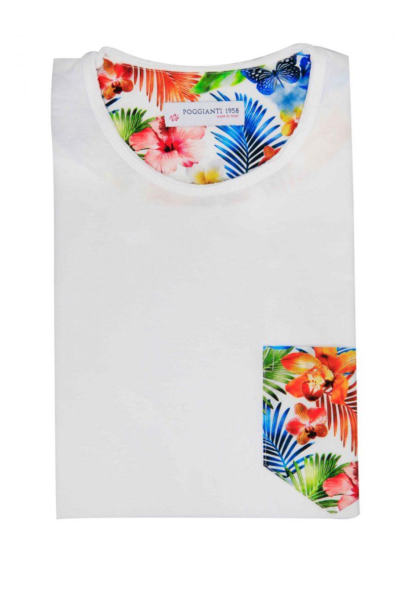 T-shirt cotone 853-01 White