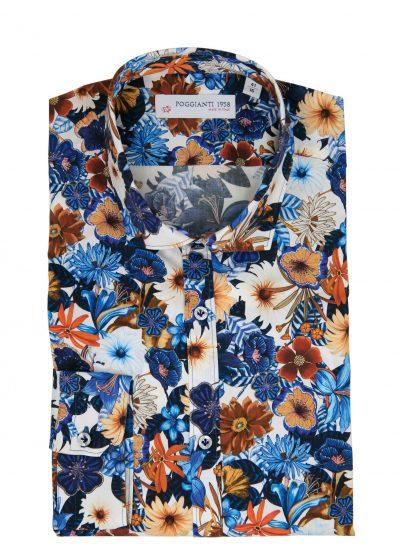 Fantasy Shirt. Soft Collar. Blu