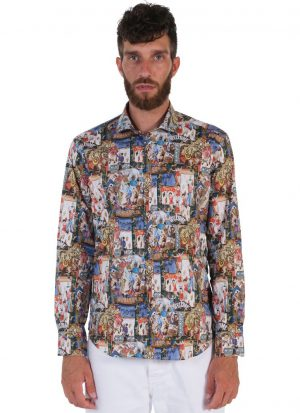 Fantasy Shirt. Soft Collar. Multicolor