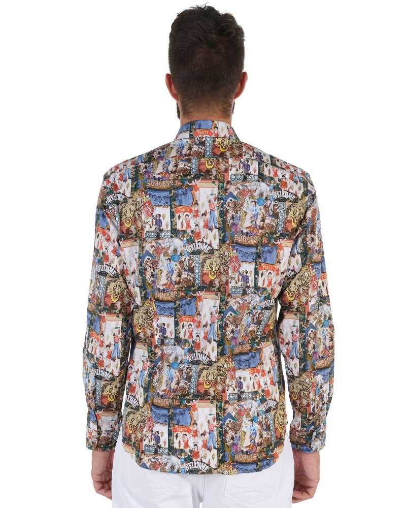 Fantasy Shirt. Soft Collar. Multicolor