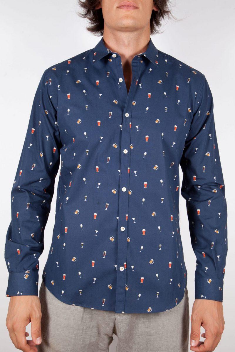 fashion shirt, soft and blue collar