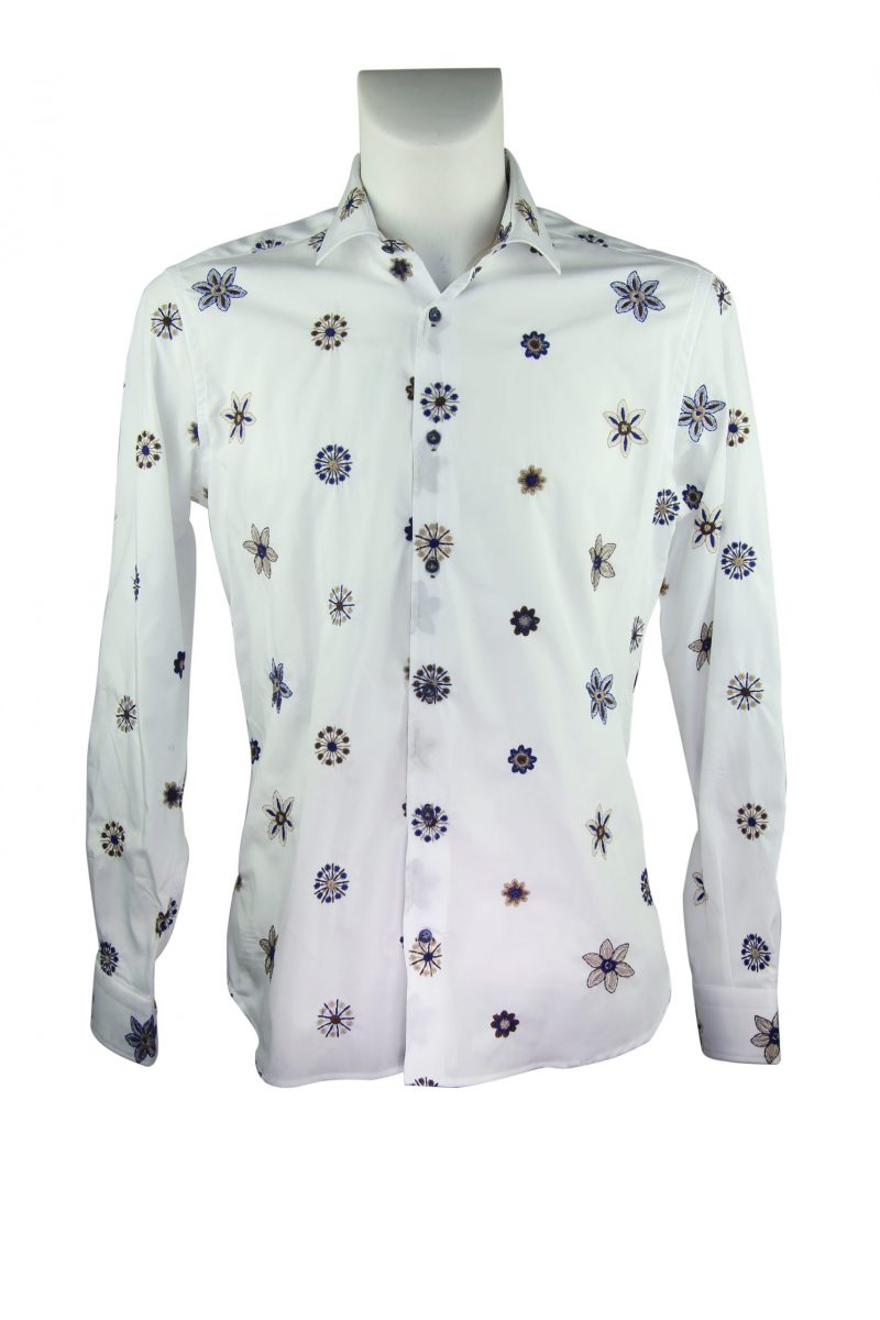 Fashion shirt, soft collar with embroidery (Copia)