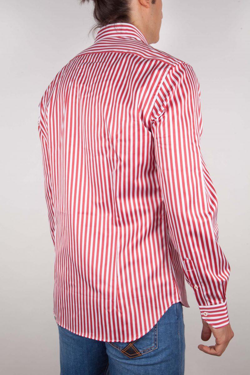 Camicia Righe Rossa-Bianca