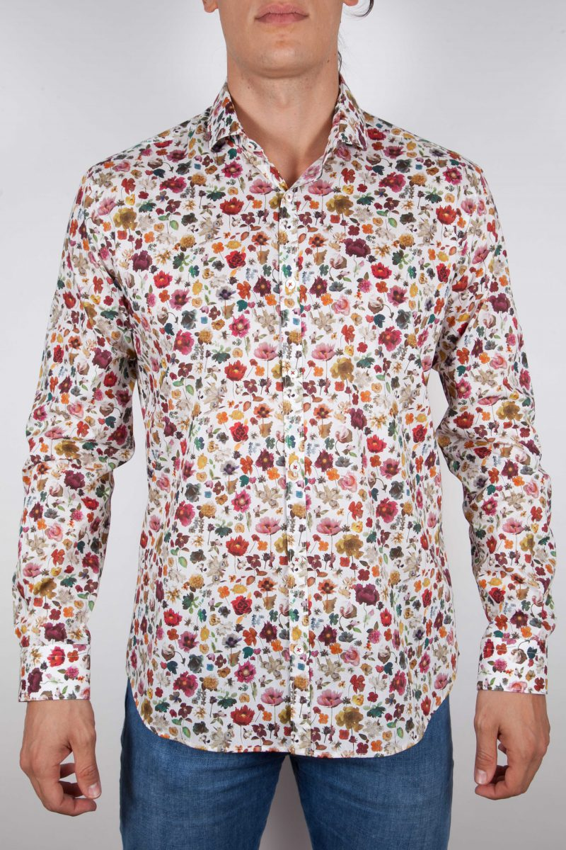 Camicia Fantasia Collo Morbido Multicolor