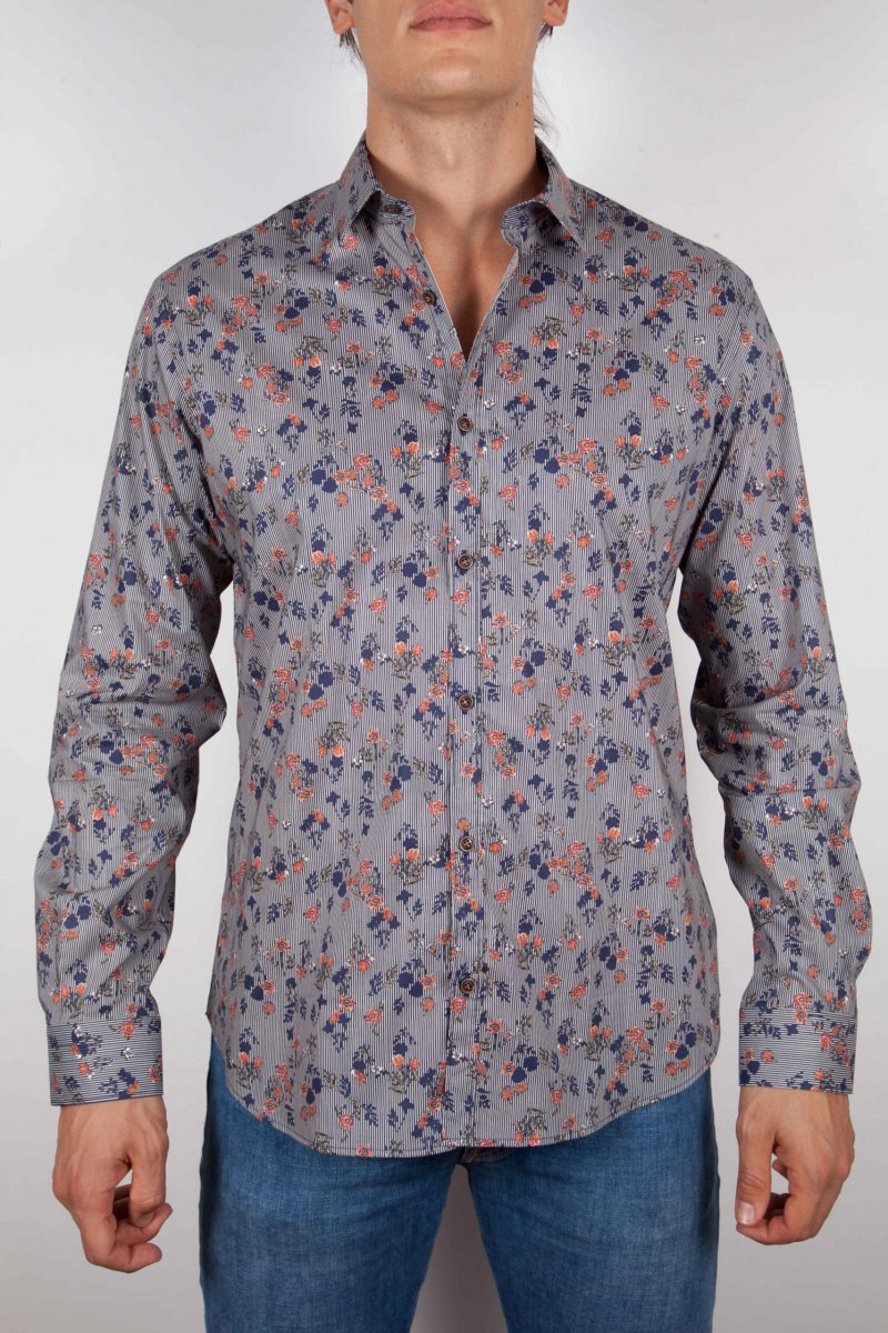 Fashion shirt, soft and blue collar. (Copia) (Copia) (Copia)