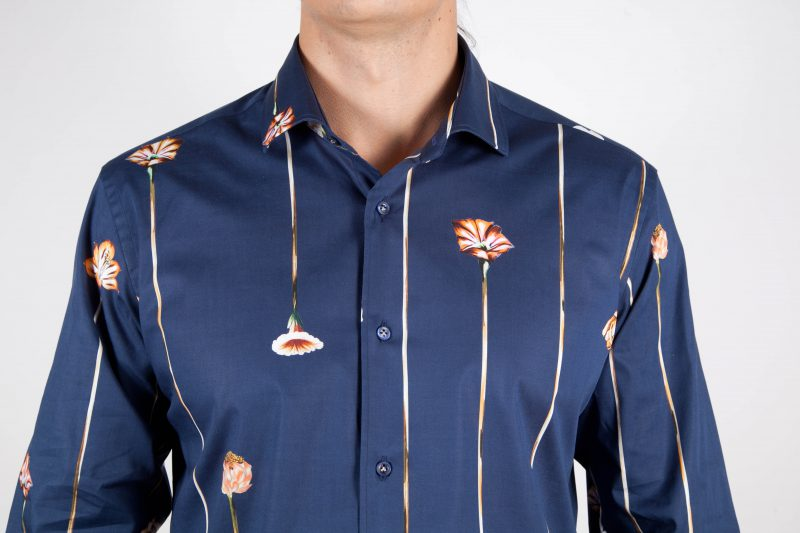 Fashion shirt, soft and blue collar. (Copia)