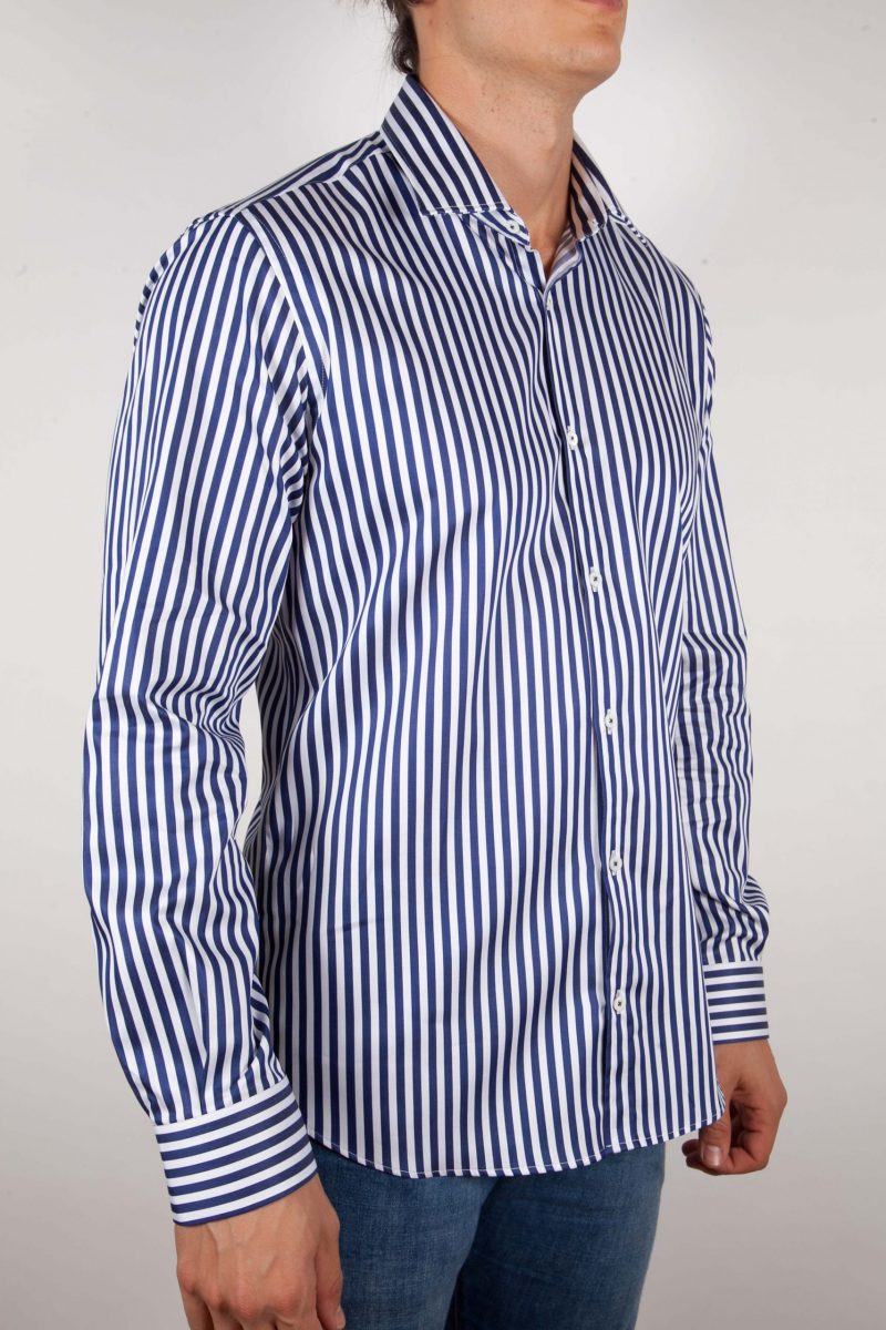 Camicia Righe Blu-Bianca