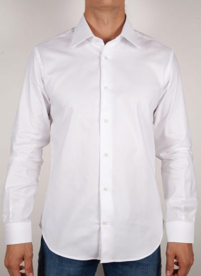 Camicia Bianca Oxford Collo Italiano