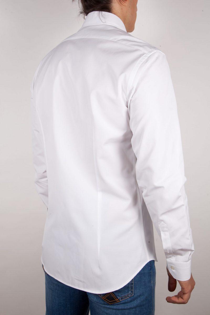 Camicia Bianca Popeline Collo Italiano
