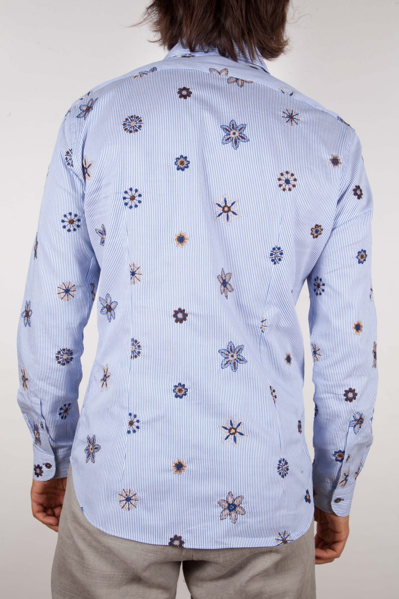 Camicia Fantasia Collo Morbido Ricamo