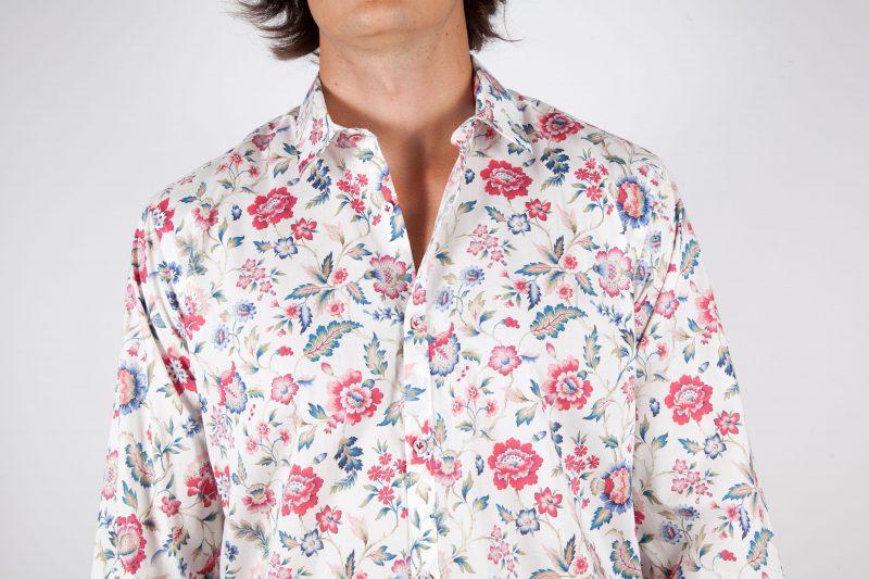 Fashion and sky-blue shirt, soft collar (Copia)