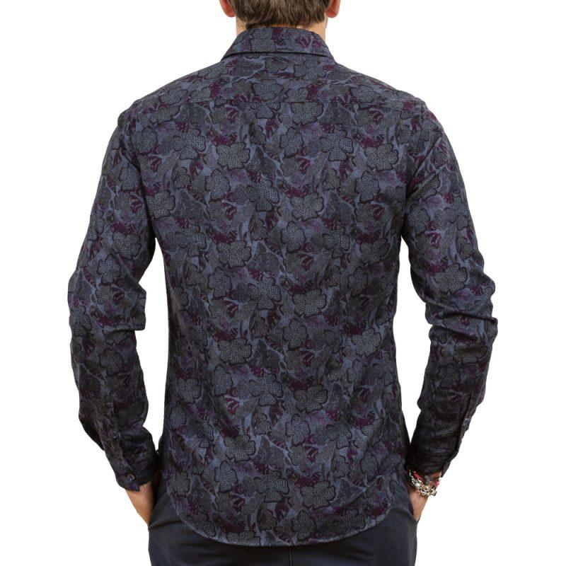 Camicia fantasia floreale in flanella
