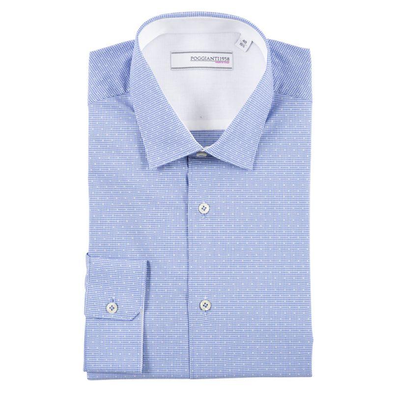 Camicia classica con inserti bianchi