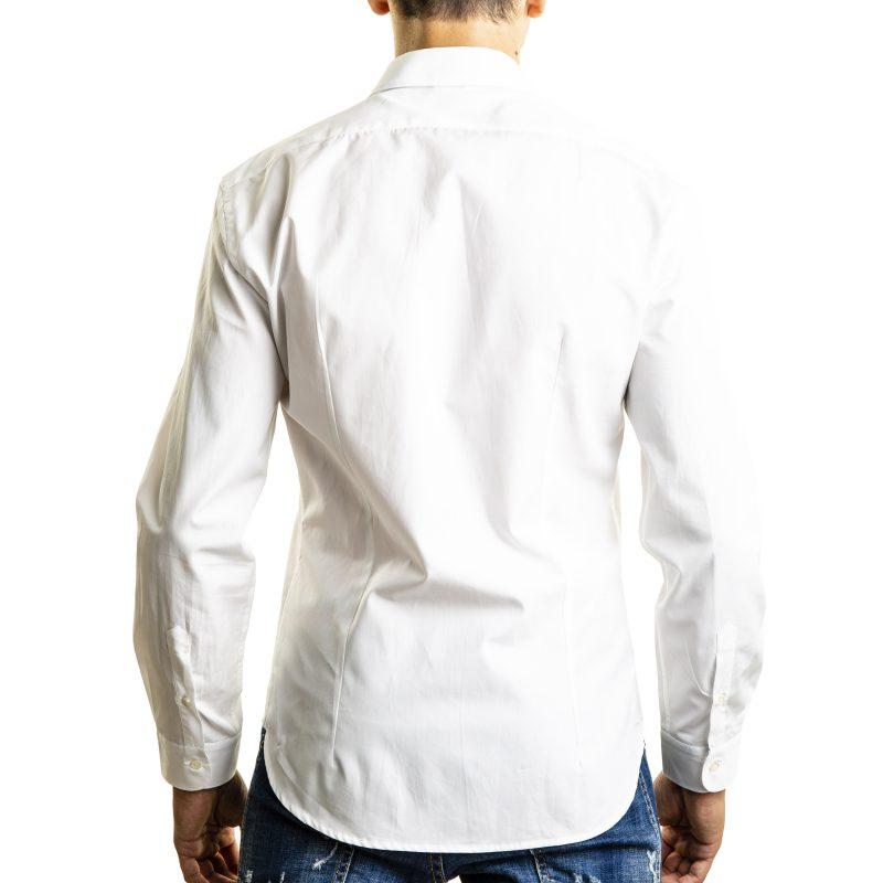 Camicia Bianca con contrasti fantasia