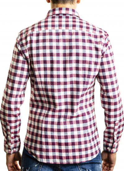 Fantasy Shirt. Solid Collar. Red