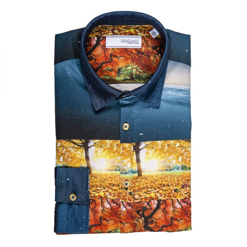 Camicia fantasia Autunno collo italiano
