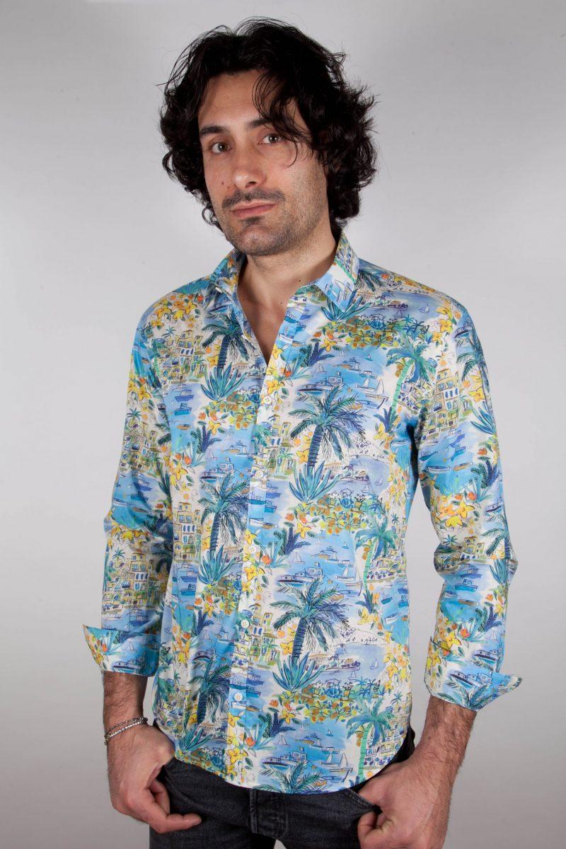 Camicia Fantasia Collo Italiano