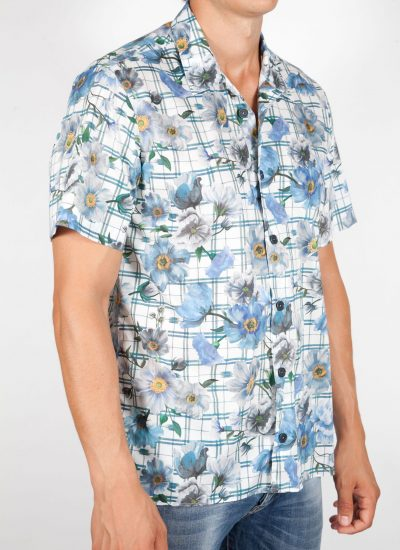 Patterned Shirt with Short Sleeve