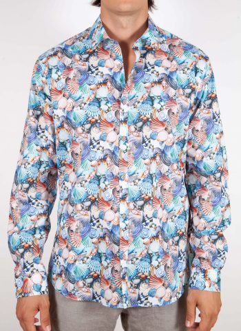Patterned Shirt small Multicolor Collar