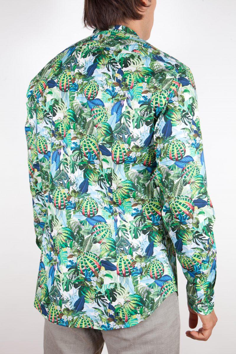 Camicia Fantasia Collo Morbido Multicolor