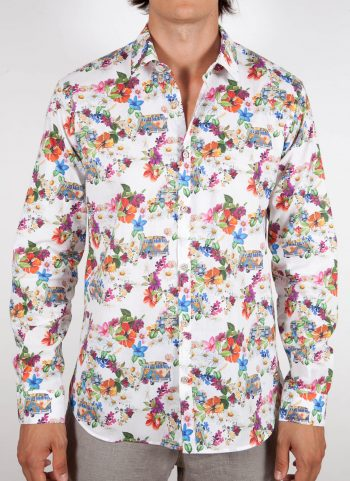 Camicia Fantasia Collo Italiano Piccolo