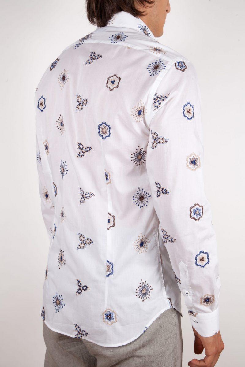 Camicia Cotone con Ricami