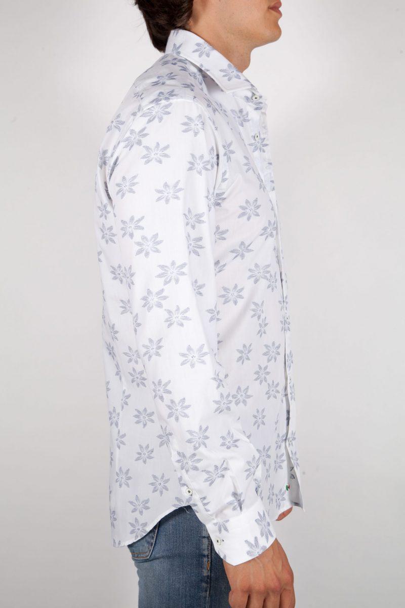 Camicia Fil Coupe con tasca