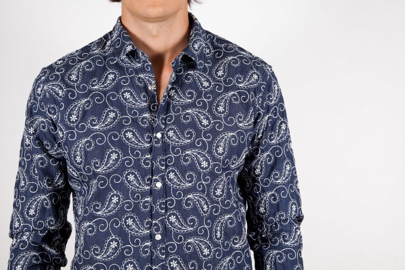 Cotton Shirt with Embroideries