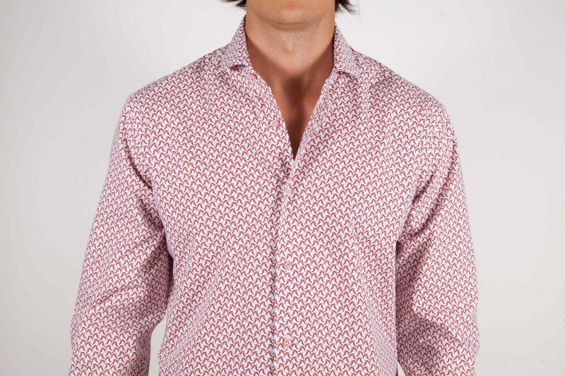 Patterned Shirt Italian Collar
