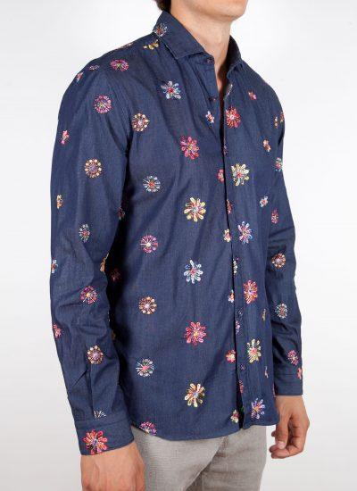 Camicia Denim con Ricami