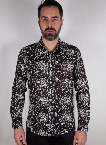 Camicia con stampa floreale FIRENZE-UBBF-555-02