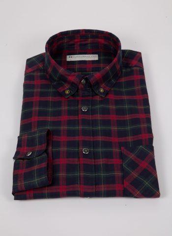 Camicia a quadri con tasca ARDENZA-64-574-03