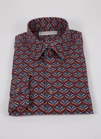 Camicia con stampa FIRENZE-67-516-01