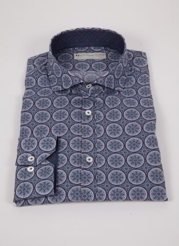 Camicia con stampa AREZZO-65-514-01