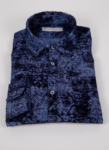 Camicia  in denim con floccato PISA-66-602-01
