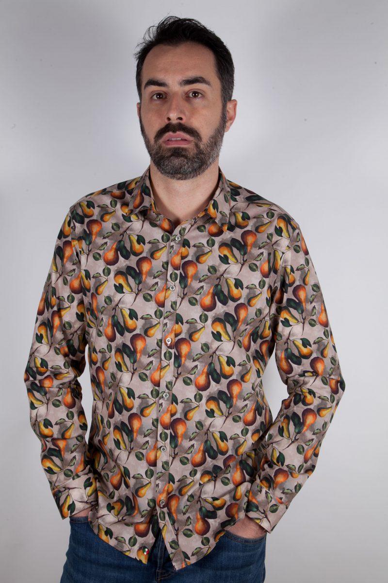 Camicia con stampa frutta PISA-66F-536-01