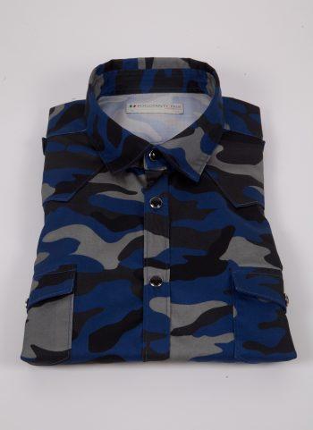 Camicia con stampa camouflage MARRADI-66-526-03