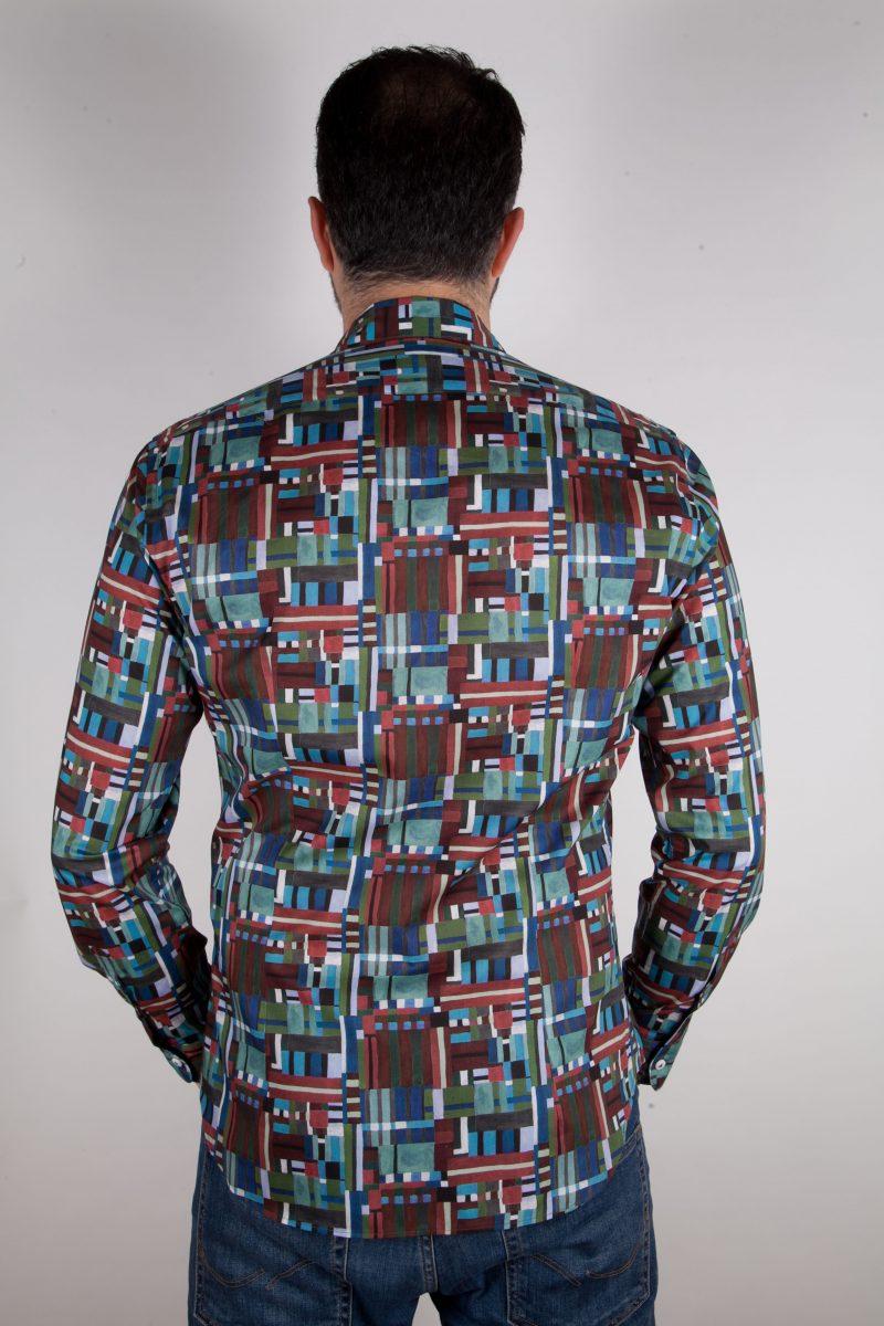 Camicia con stampa geometrica  PISA-65F-557-02
